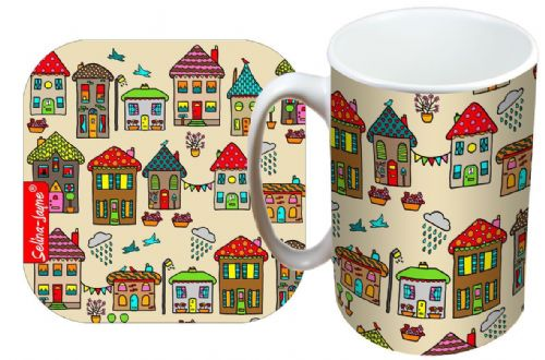 Selina-Jayne House Limited Edition Designer Mug and Coaster Gift Set